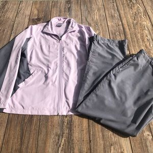 Nike Lilac & Gray Windbreaker Track Suit Medium